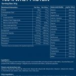 Protein whey nutritional information